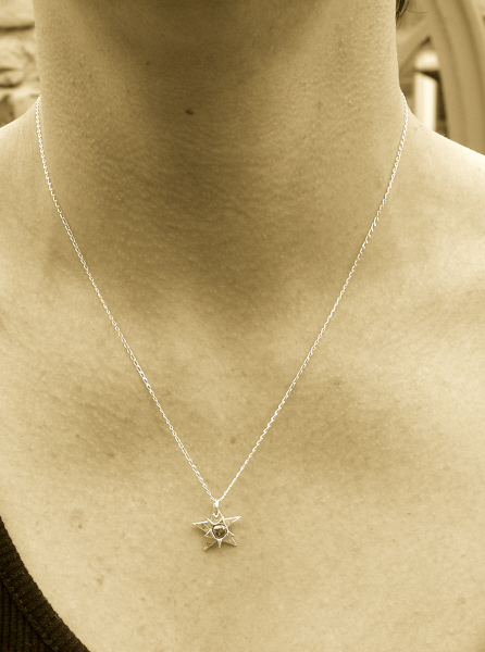 Solid silver star meteorite necklace smpend3 solid silver star meteorite necklace aloadofball Image collections