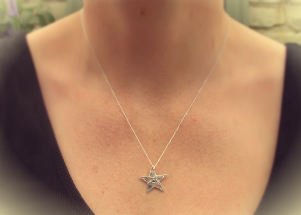 Large silver star meteorite necklace large star large silver star meteorite necklace aloadofball Image collections